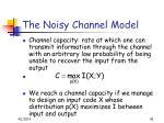 the noisy channel model46