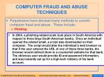 computer fraud and abuse techniques100