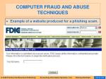 computer fraud and abuse techniques102
