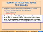 computer fraud and abuse techniques107