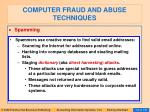 computer fraud and abuse techniques109