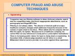 computer fraud and abuse techniques110