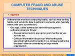 computer fraud and abuse techniques111