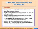 computer fraud and abuse techniques112