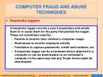 computer fraud and abuse techniques113