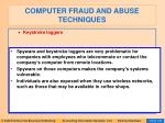 computer fraud and abuse techniques114