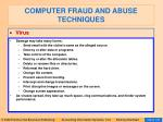 computer fraud and abuse techniques121