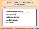 computer fraud and abuse techniques122