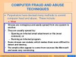 computer fraud and abuse techniques123