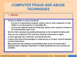 computer fraud and abuse techniques126