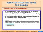 computer fraud and abuse techniques127