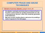 computer fraud and abuse techniques82