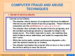 computer fraud and abuse techniques83