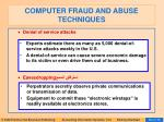 computer fraud and abuse techniques84