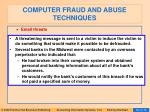 computer fraud and abuse techniques85