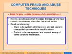 computer fraud and abuse techniques86