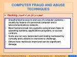 computer fraud and abuse techniques87
