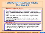 computer fraud and abuse techniques88
