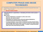 computer fraud and abuse techniques91