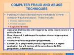 computer fraud and abuse techniques93
