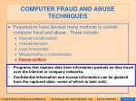computer fraud and abuse techniques95