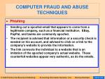 computer fraud and abuse techniques97