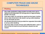 computer fraud and abuse techniques98