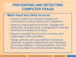 preventing and detecting computer fraud130