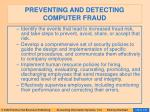preventing and detecting computer fraud131