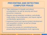 preventing and detecting computer fraud132