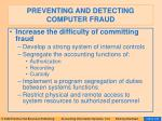preventing and detecting computer fraud133