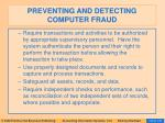preventing and detecting computer fraud134