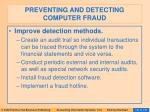 preventing and detecting computer fraud136