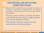 preventing and detecting computer fraud137