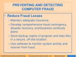 preventing and detecting computer fraud138