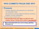 who commits fraud and why38