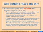who commits fraud and why43