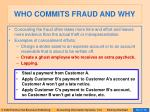 who commits fraud and why48