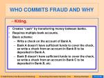 who commits fraud and why49