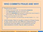 who commits fraud and why58