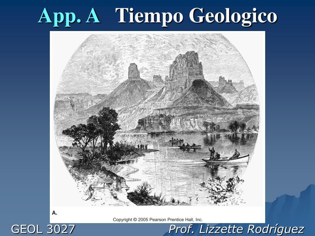 app a tiempo geologico l.