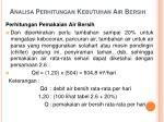 analisa perhitungan kebutuhan air bersih26