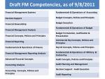 draft fm competencies as of 9 8 2011