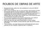 roubos de obras de arte48
