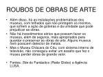 roubos de obras de arte49