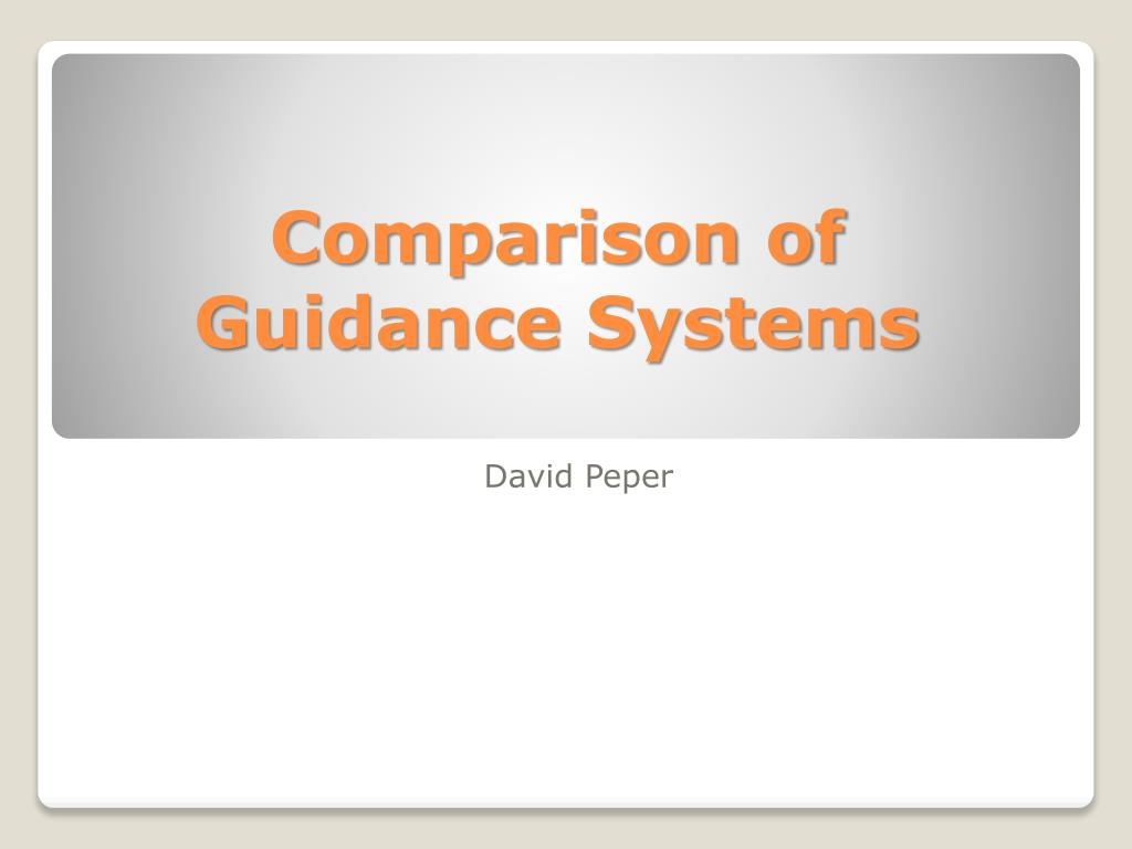 comparison of guidance systems l.