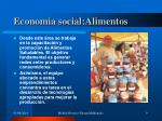 economia social alimentos