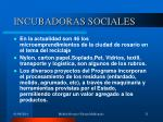 incubadoras sociales