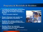 programa de reciclado de residuos19