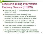 electronic billing information delivery service ebids